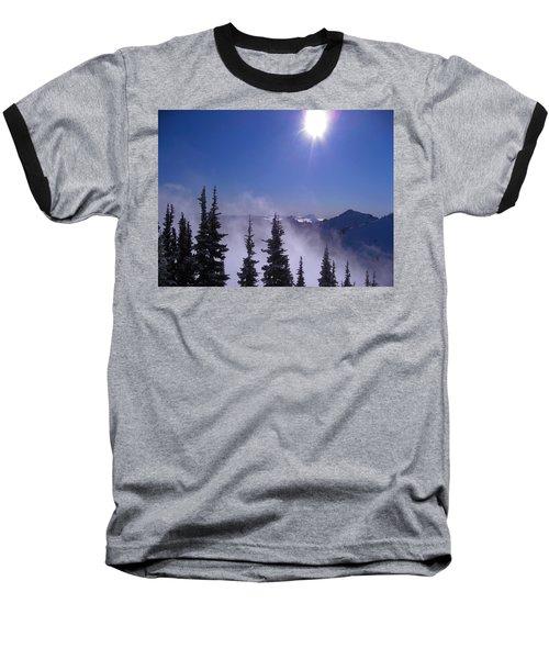 Purple Mountains Majesty Baseball T-Shirt by Kym Backland