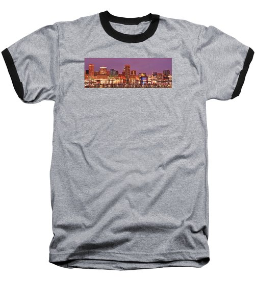 Purple Night In Baltimore Baseball T-Shirt