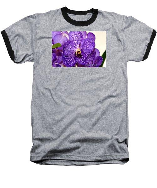 Purple Orchid Baseball T-Shirt