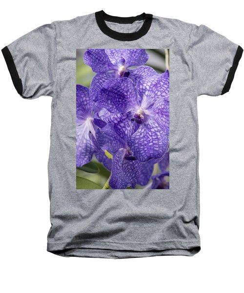 Purple Orchids Baseball T-Shirt