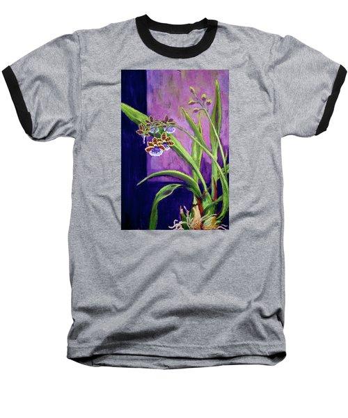 Purple Orchids Baseball T-Shirt