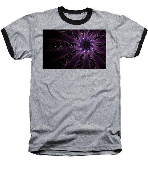 Baseball T-Shirt featuring the digital art Purple Passion by GJ Blackman