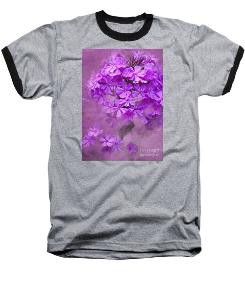 Purple Phlox Baseball T-Shirt