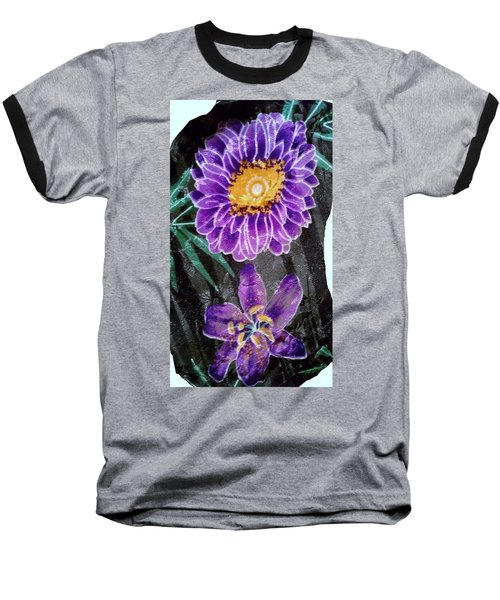 Baseball T-Shirt featuring the photograph Purple Silk by Fortunate Findings Shirley Dickerson