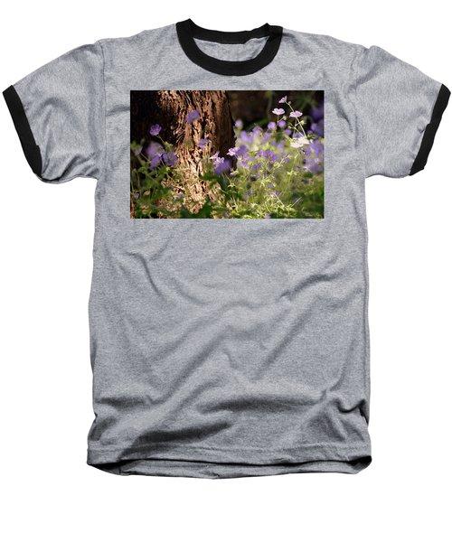 Purple Splash Baseball T-Shirt