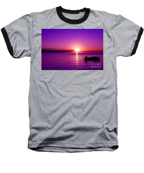 Purple Sunrise Baseball T-Shirt