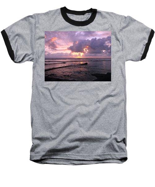 Baseball T-Shirt featuring the photograph Purple Pink Sunset by Athena Mckinzie