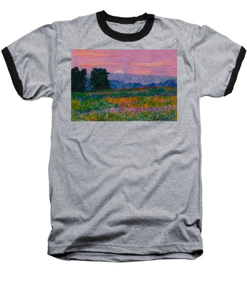 Purple Sunset On The Blue Ridge Baseball T-Shirt by Kendall Kessler
