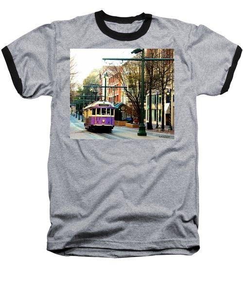 Purple Trolley Baseball T-Shirt