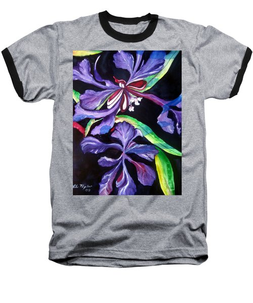 Purple Wildflowers Baseball T-Shirt