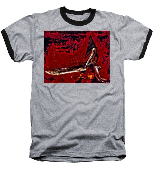 Pyramid Head Baseball T-Shirt by Joe Misrasi