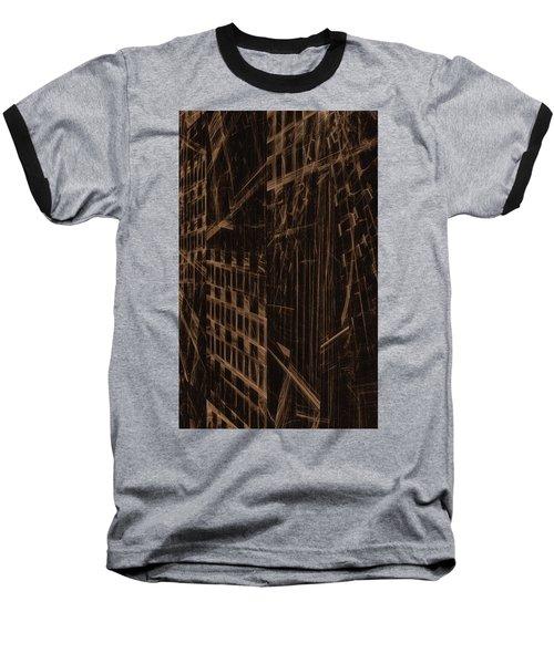 Baseball T-Shirt featuring the digital art Quake - Ground Zero by GJ Blackman
