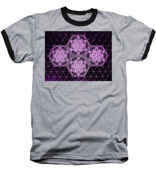 Quantum Snowfall Baseball T-Shirt by Jason Padgett