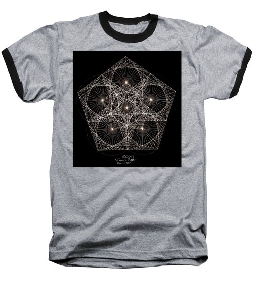 Baseball T-Shirt featuring the drawing Quantum Star II by Jason Padgett