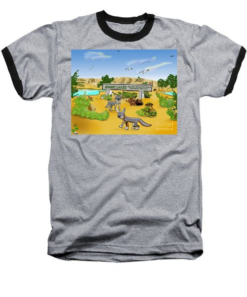 Quarry Lakes And Gray Foxes Baseball T-Shirt