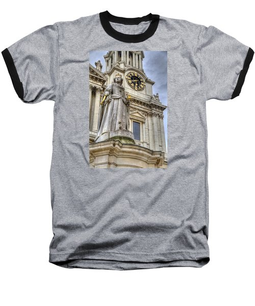 Queen Anne Statue Baseball T-Shirt by Tim Stanley