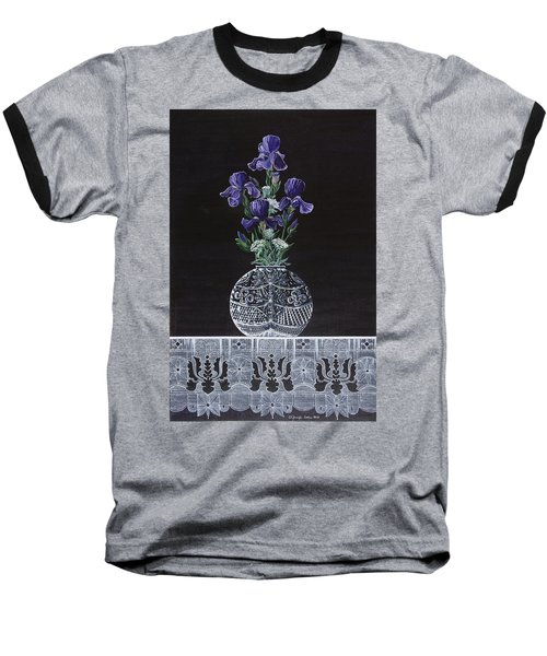 Baseball T-Shirt featuring the painting Queen Iris's Lace by Jennifer Lake