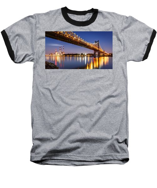 Queensboro Bridge Baseball T-Shirt by Mihai Andritoiu