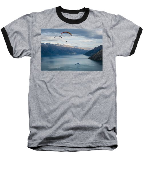 Queenstown Paragliders Baseball T-Shirt