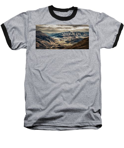 Queenstown View Baseball T-Shirt