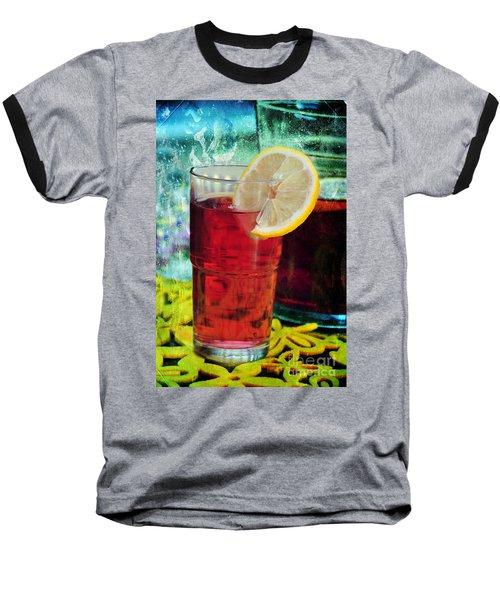 Quench My Thirst Baseball T-Shirt by Randi Grace Nilsberg