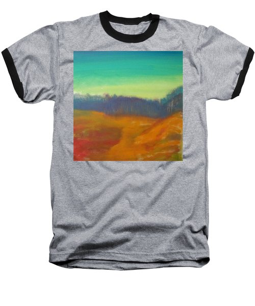 Baseball T-Shirt featuring the painting Quiet by Keith Thue