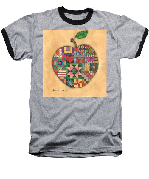 Quilted Apple Baseball T-Shirt