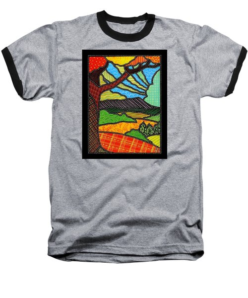Quilted Bright Harvest Baseball T-Shirt by Jim Harris