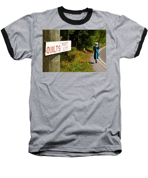 Quilts Next Left Baseball T-Shirt