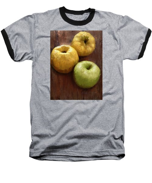 Quince And Apple Still Life Baseball T-Shirt by Enzie Shahmiri