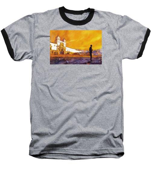 Quito Sunrise Baseball T-Shirt by Ryan Fox