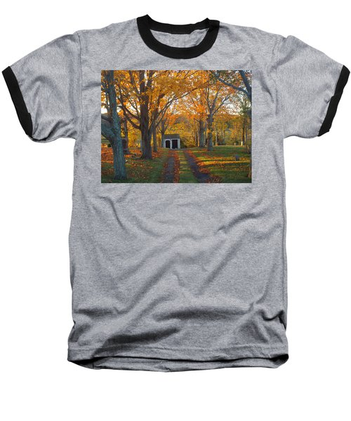 Quivet Morning Baseball T-Shirt by Dianne Cowen