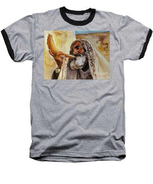 Rabbi Blowing Shofar Baseball T-Shirt