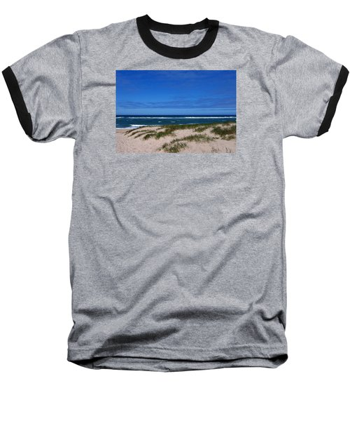 Race Point Beach Baseball T-Shirt by Catherine Gagne