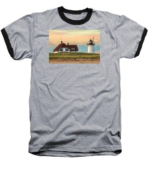 Race Point Light At Sunset Baseball T-Shirt