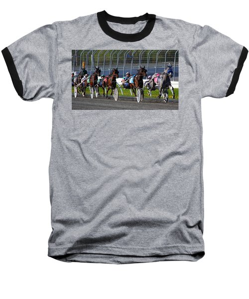 Baseball T-Shirt featuring the photograph Race To The Finish by Davandra Cribbie