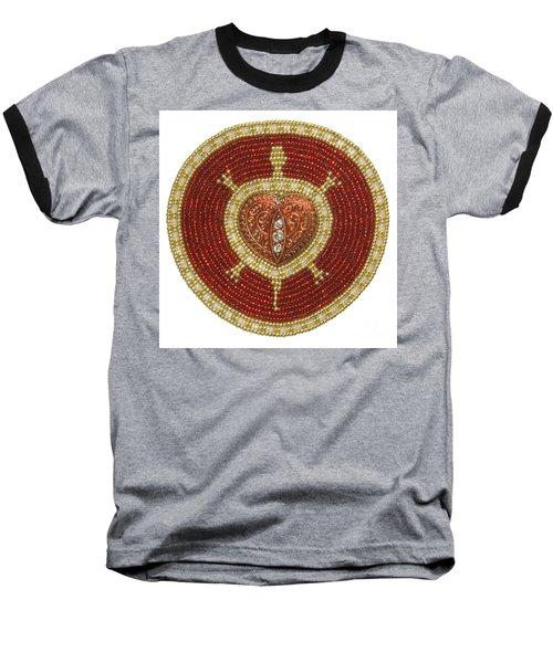 Bw's Red Heart Turtle Baseball T-Shirt