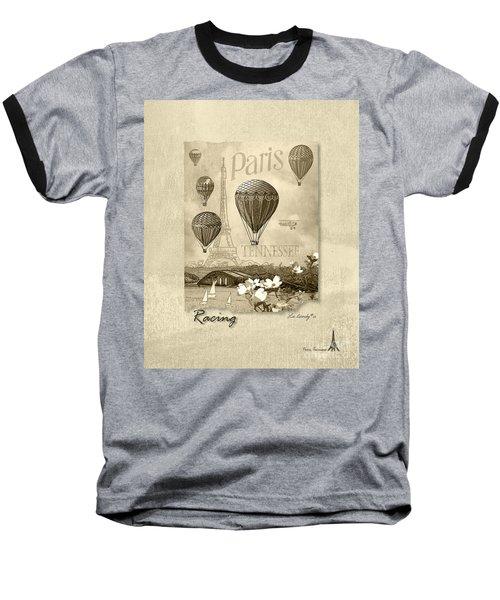 Racing In Sepia Baseball T-Shirt