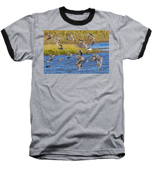 Baseball T-Shirt featuring the photograph Racing Stripes by Gary Holmes
