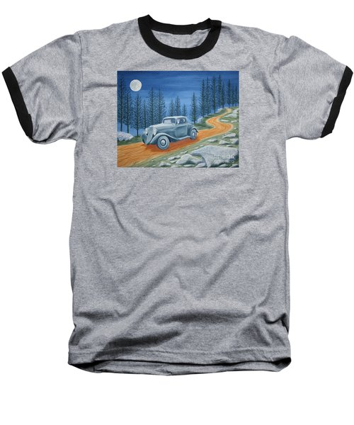 Baseball T-Shirt featuring the painting Racing Was Born In North Carolina by Stacy C Bottoms