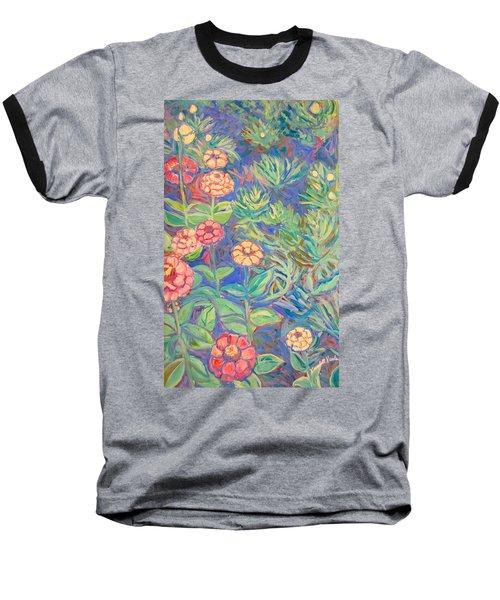 Radford Library Butterfly Garden Baseball T-Shirt by Kendall Kessler