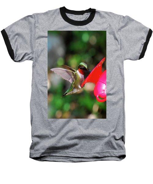 Radiant Ruby Baseball T-Shirt by Lori Tambakis