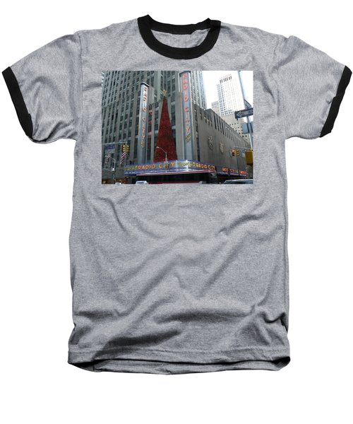 Radio City Christmas Baseball T-Shirt by Michael Porchik