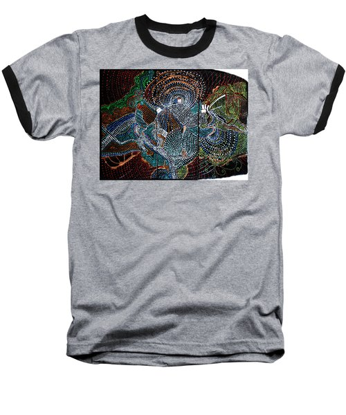 Baseball T-Shirt featuring the painting Radiohead by Gloria Ssali