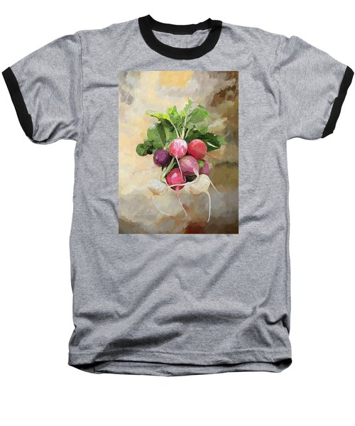 Radishes Baseball T-Shirt by Enzie Shahmiri