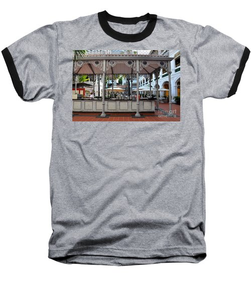 Raffles Hotel Courtyard Bar And Restaurant Singapore Baseball T-Shirt by Imran Ahmed
