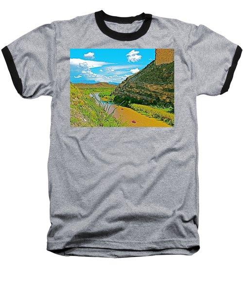 Rafting In Santa Elena Canyon In Big Bend National Park-texas Baseball T-Shirt