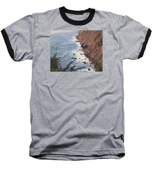 Ragged Point California Baseball T-Shirt by Barbara Barber