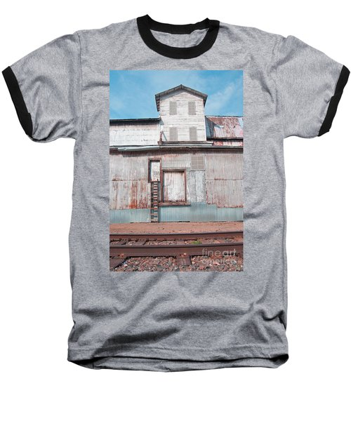 Railroad To The Past Baseball T-Shirt