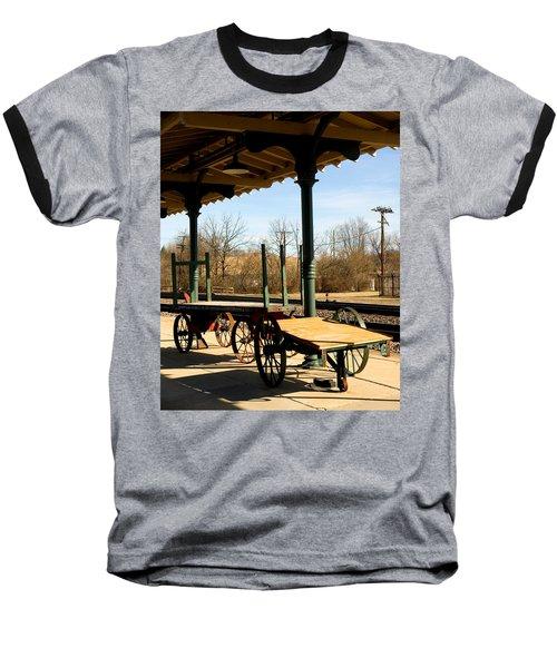 Railroad Wagons Baseball T-Shirt